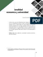 Etica, Racionalidad Económica y Universidad