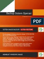 Cara membuat Windows Image Backup