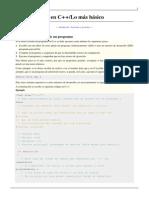Programación en C++-Lo más básico