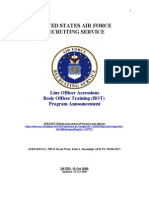 USAF OTS Recruiter Program Announcement (BOT Guide)