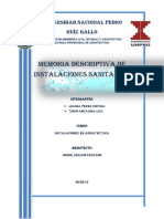Memoria Descriptiva Inst. Sanitarias