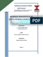 Memoria Descriptiva Inst. Sanitarias