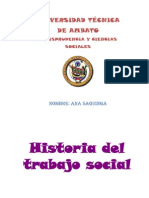 Historia Del Trabajo Social en Power Point