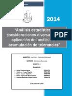 """""""Análisis Estadístico y Consideraciones Diversas de La Aplicación Del Análisis de Acumulación de Tolerancias"""