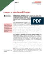 Société Générale Inflation to ease the debt burden Special Edition May 2009