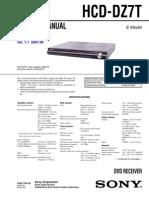 Sony Hcd-dz7t Dav-dz7t Ver-1.1 Sm