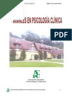 Avances en Psicologia Clinica