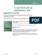 HSE on Offshore Installations and Pipeline Works