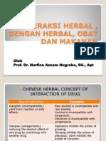 Interaksi Herbal , Dengan Herbal, Obat Dan