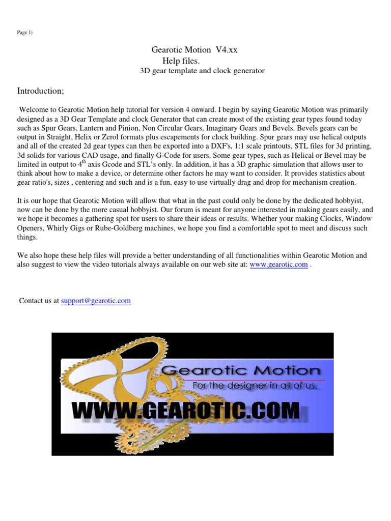 Gearotic Motion V4xx Manual Gear Belt Mechanical