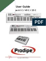 Manual Prodipe 61c 49 c 25 c English 1