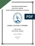 Monografía de Genes Cultura y Genero