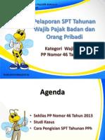 S-KUP-06-13-Slide Pengisian SPT Tahunan Badan Dan OP PP No. 46 Tahun 2013-01