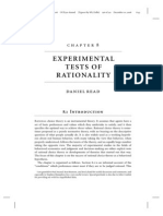 Experimental Tests of Rationality