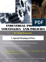 Industrial Pricing Strategies and Policies by Sanath Dasanayaka