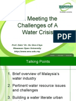 On Meeting the Challenges of a Water Crisis