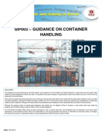 Container Handling Guidance