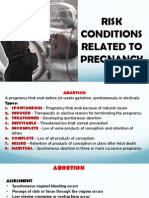 Risk Condition Related to Pregnancy