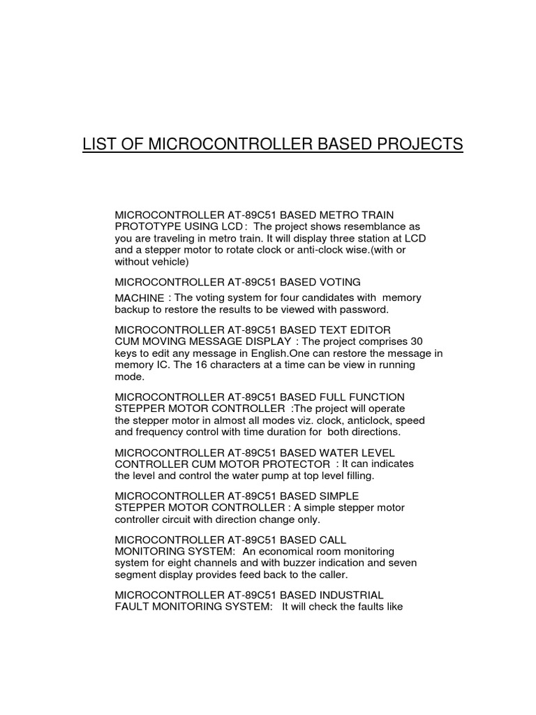 Micro Controler Projects   Microcontroller   Pic Microcontroller