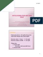 Gds 138 Slide Hipoglikemia Pada Bayi Dan Anak