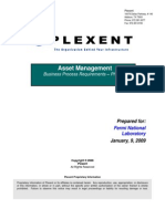 Fermi Asset Management Business Process Requirements Document Phase 2