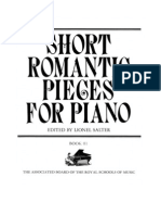Short Romantic Pieces for Piano Book III