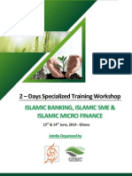 2 – Days Specialized Training Workshop ISLAMIC BANKING, ISLAMIC SME & ISLAMIC MICRO FINANCE
