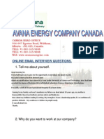 Avana Energy Interview Form-1