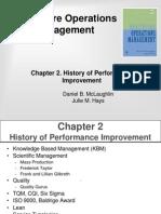 History of Performance Improvement