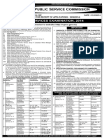 Civil Services 2014 Advertisement