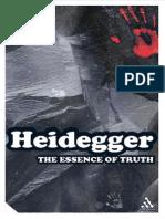 Heidegger, Martin - Essence of Truth, The (Continuum, 2002)