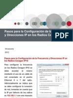 95602442 Pasos Para La Configuracion de La Frecuencia y Direcciones IP en Los Radios Ceragon IP10