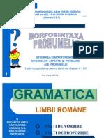 Morfosintaxa pronumelui