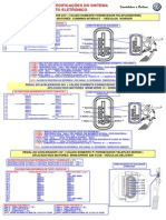 Tabela de Testes e Especificações Dos Sensores Em Geral