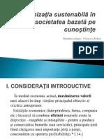 Organizatia Sustenabila in societatea bazata pe cunostinte