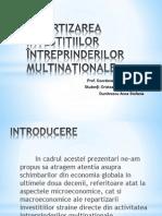 Repartizarea Investițiilor Întreprinderilor Multinaționale