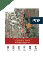 Plan de Desarrollo Urbano para la región cítrica del Estado de Nuevo León