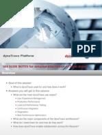dynaTrace Platform overview