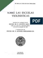 Sobre las escuelas violinísticas