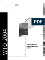 "World Trade Organization, ""International Trade Statistics"" 2004"