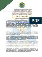 PRG Edital 01-2014 - 1ª Chamada SiSU 2014