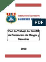 Plan de Trabajo de Comité de Gestión de Riesgos 2013