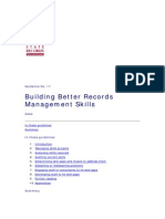 Building Better Records Management Skills