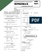 CEPREMAX - Algebra Semana 01 (Teoria de Exponentes
