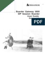 WellBG 5800 User Guide V1.3