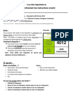Instructions déménagement - 28.02.2014