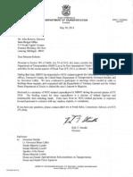 MDOT DRIC Expenses Letter