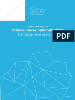 Dossier de présentation - Grande cause nationale 2014, engagement associatif
