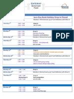 June 2014 Schedule