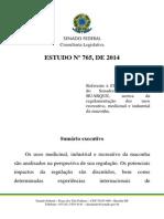Estudo Sobre Regulamentação Da Maconha - ESTUDO Nº 765, De 2014